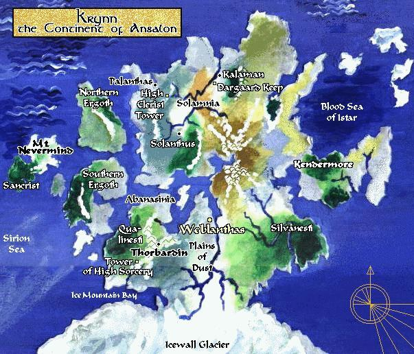 Map of Krynn
